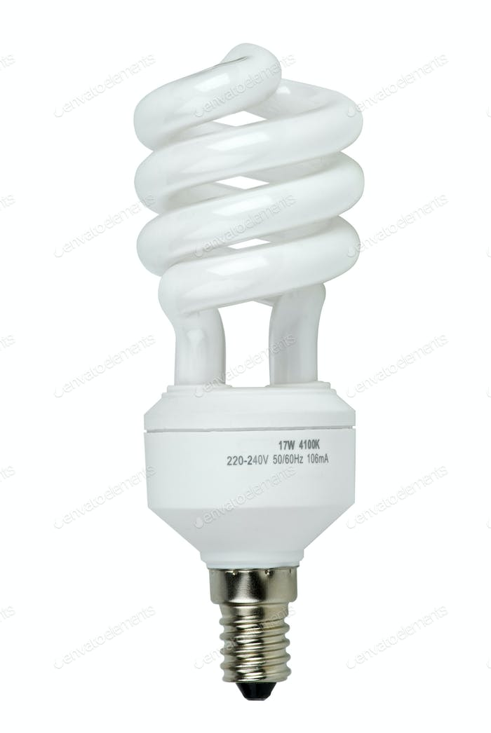 Compact spiral-shaped fluorescent lamp