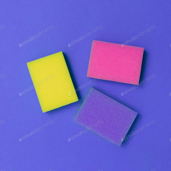 Sponge set. Minimal Design. Colorful concept