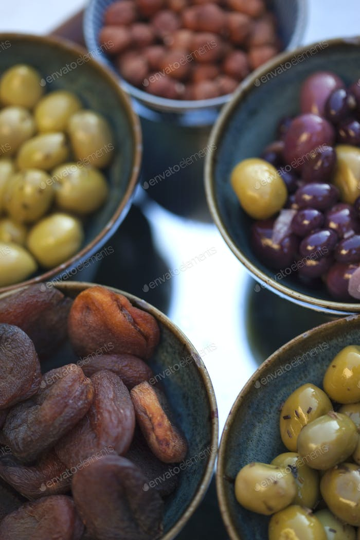 Olive and fruits