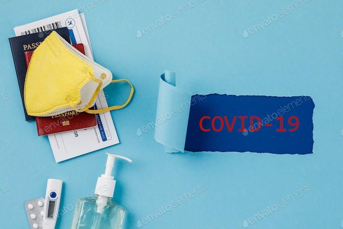 Coronavirus und Reisekonzept