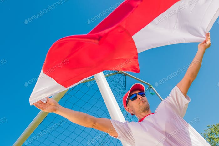 Soccer Fan with the Flag