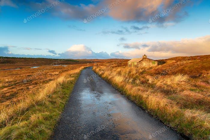 Straße auf der Isle of Lewis