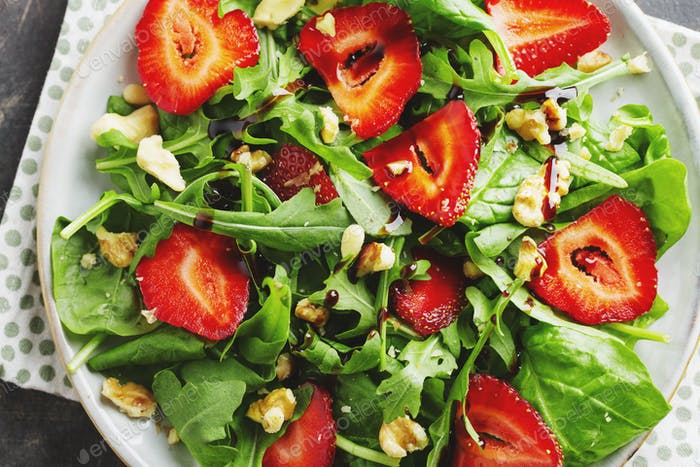 Appetizing freshmade summer salad in bowl