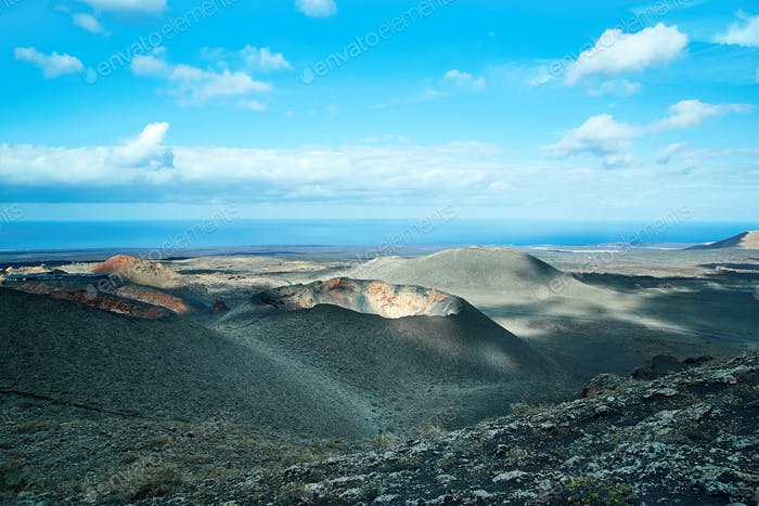 Volcano of Lanzarote Island, Spain
