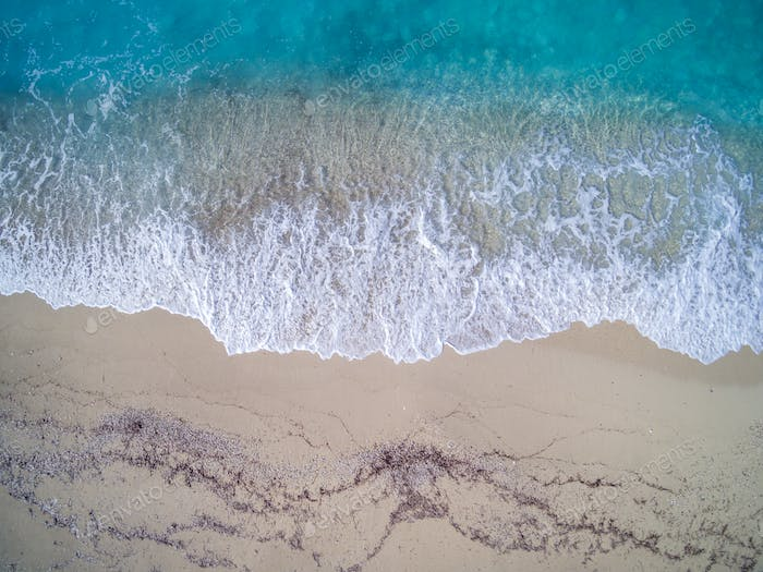 View of a drone at the  Beach