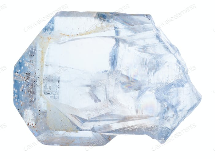 crystal of celestine rock isolated