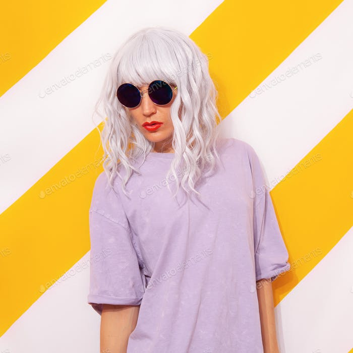 Pretty Blonde Girl wearing