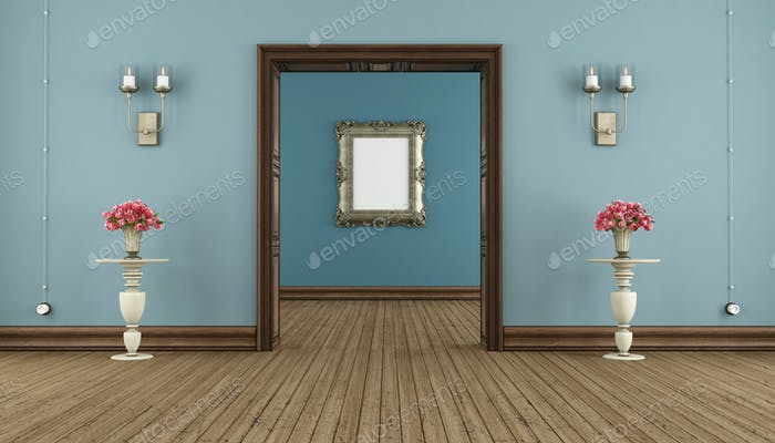 Blue classic room