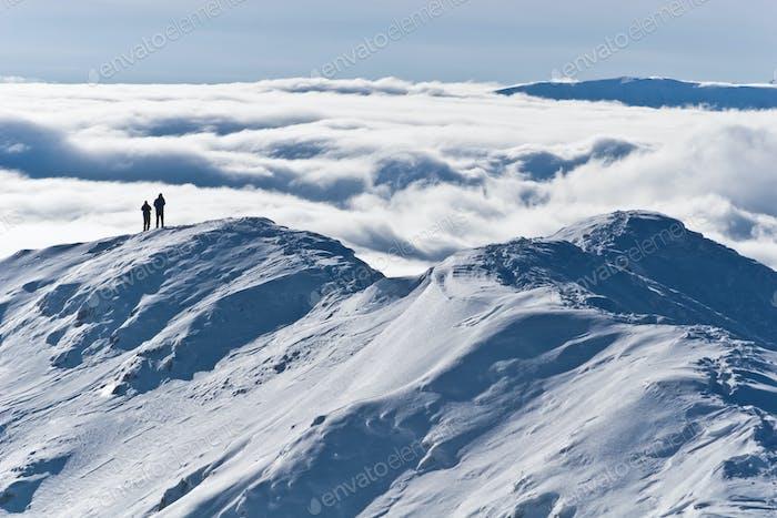 der Berggipfel Winter
