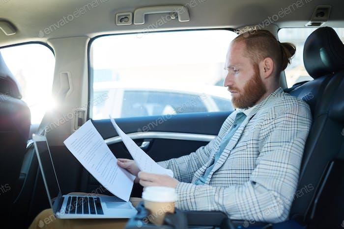 Preparing for speech inside of car