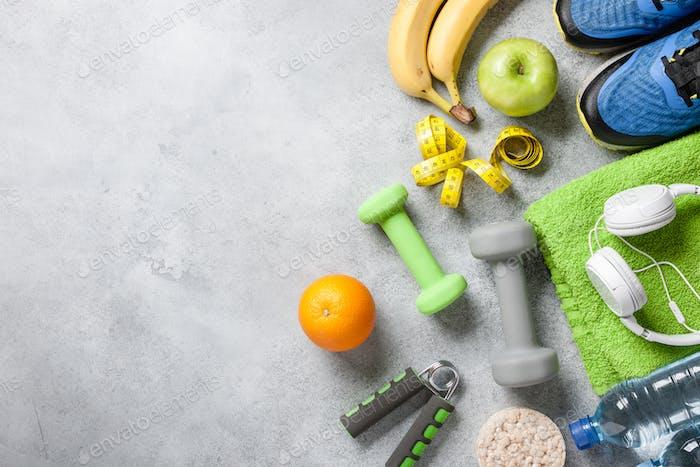 Fitness, salud, concepto de entrenamiento