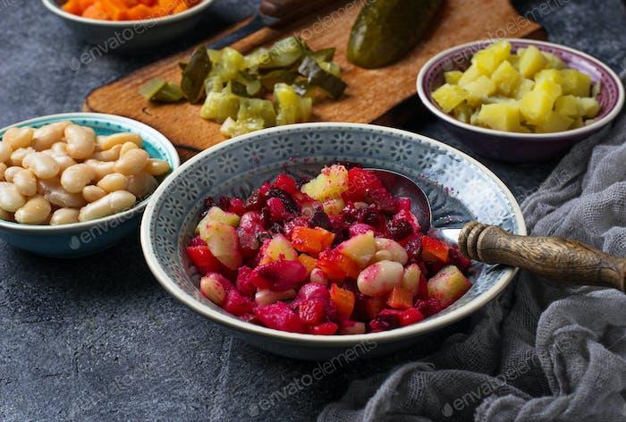Russian salad vinaigrette