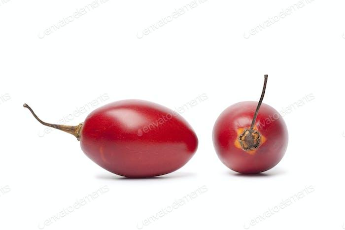 Frische Tamarillofrucht