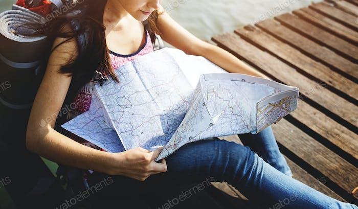 Map Direction Journey Wanderlust Explore Concept
