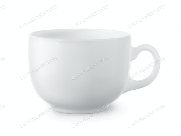 Blank white coffee cup