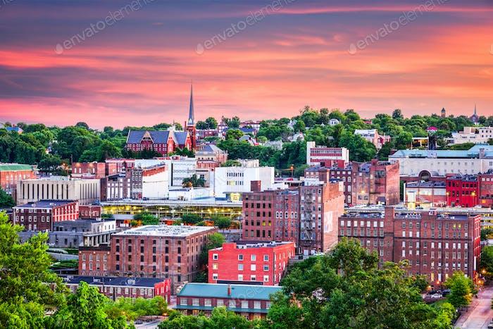 Lynchburg, Virginia Town Skyline