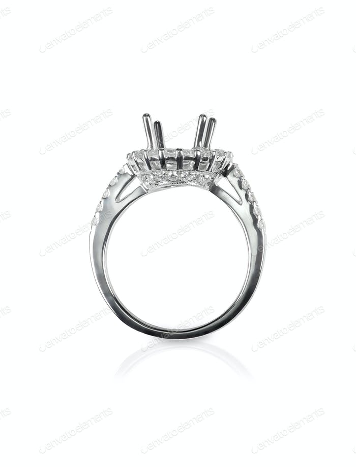 Halo DIamond Engagment Wedding Ring Setting