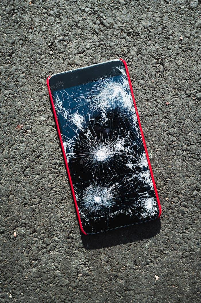 Smartphone con Completa rota