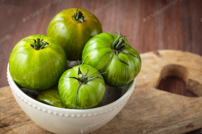 Fresh raw green tomatoes