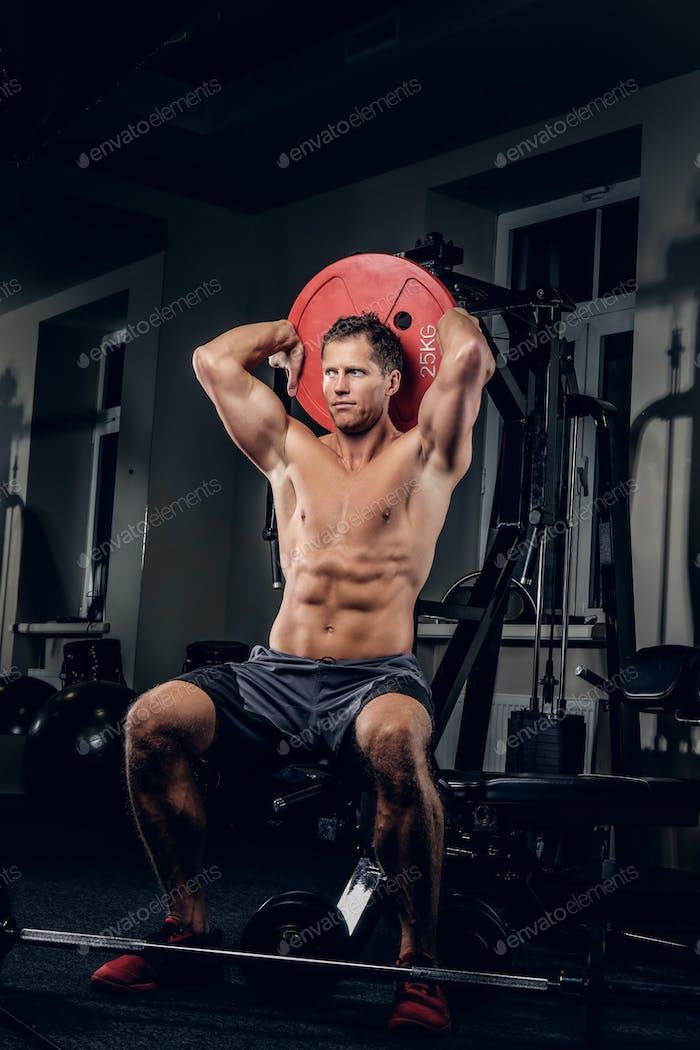 A man in a gym club.