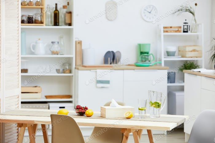 Domestic kitchen with table