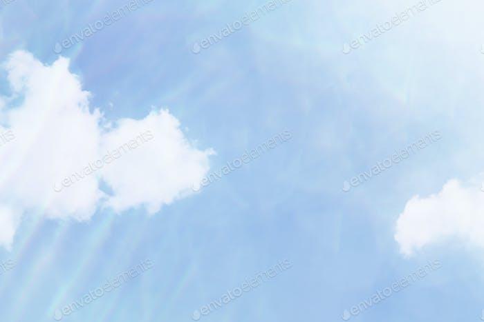 Cloud patterned blue sky background