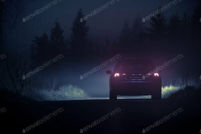 Dense Fog Countryside Drive