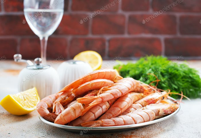 boiled shrimps