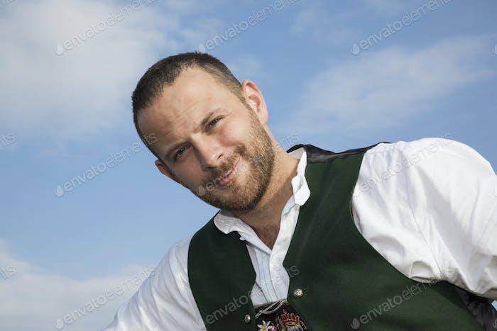 bavarian tradition man portrait