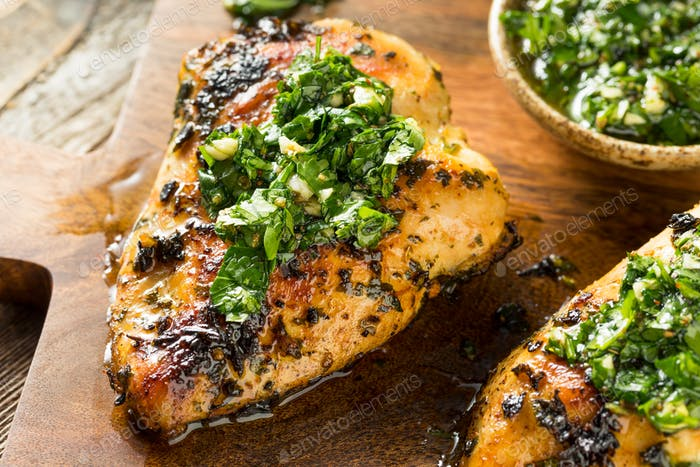 Homemade Grilled Chimichurri Chicken Breast