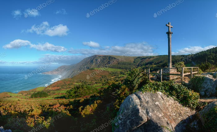 Landscape of the northern coast of galicia