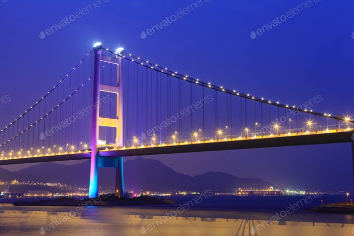 Suspension bridge in Hong Kong