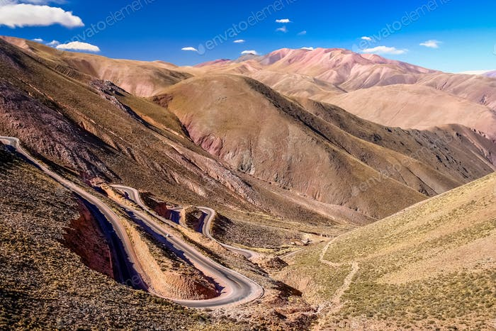 Twisting mountain road