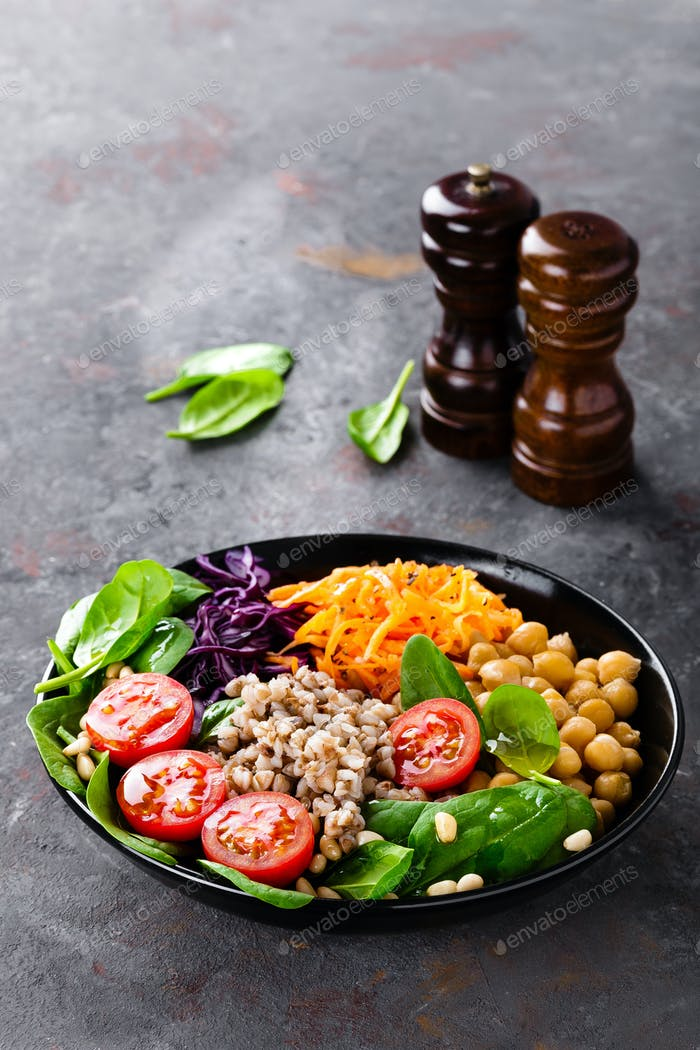 Healthy vegetarian Buddha bowl