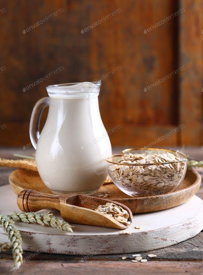 Haferflocken-Gemüse-Milch