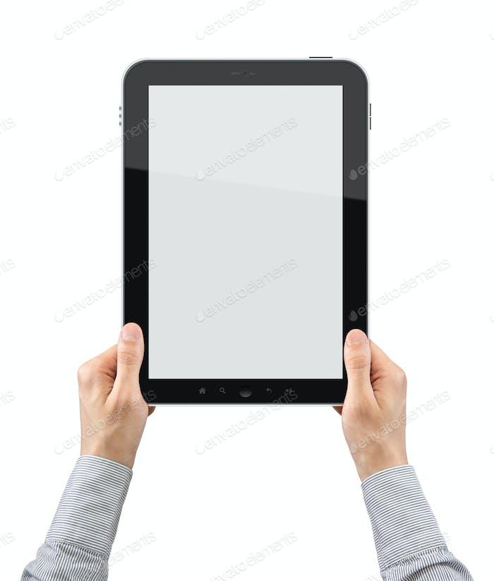 Sostener Tablet PC en blanco