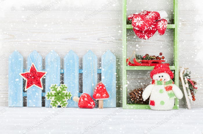 Christmas snowman toy and decor