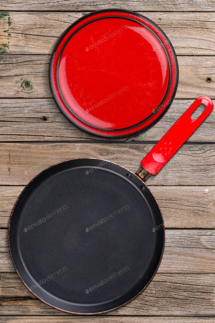 Plate and kitchen pan