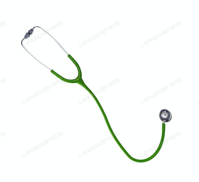 Stethoskop isoliert auf weißem Hintergrund