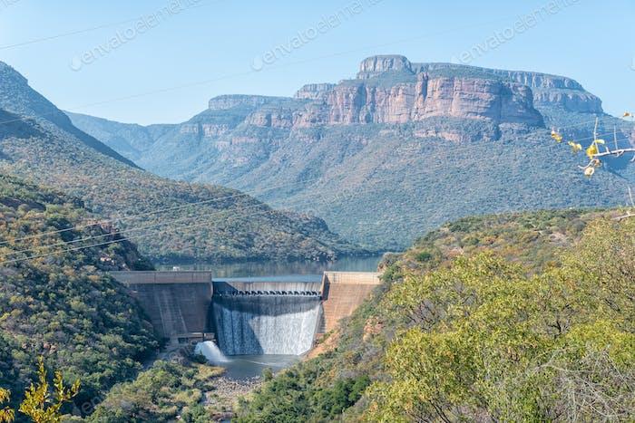 Blick auf den Blyderivierspoort Staudamm