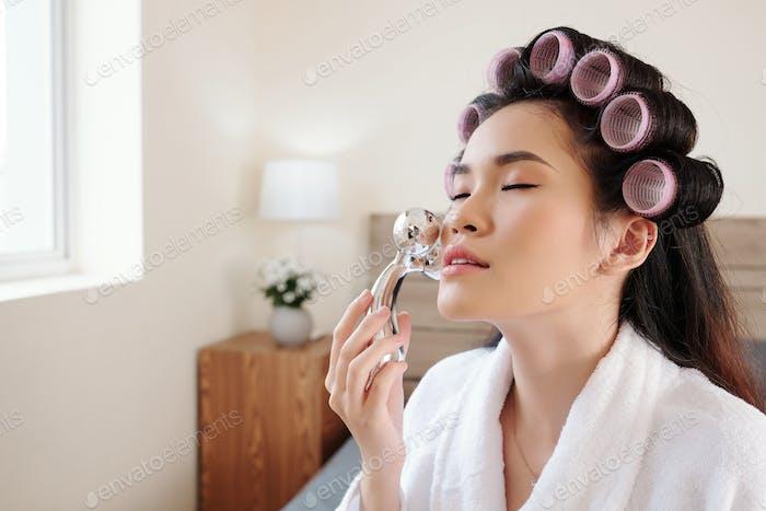Anti-Aging-Gesichtsmassage