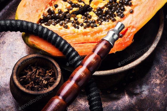 Oriental shisha with papaya