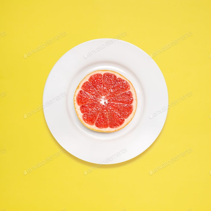 Grapefruit for breakfast.