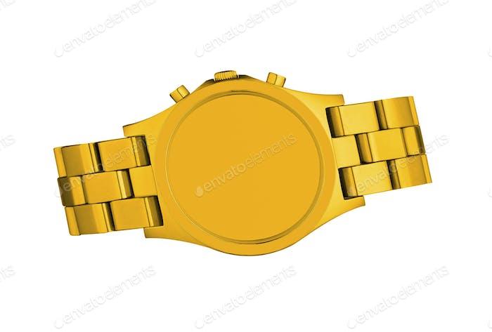 Goldene Uhr isoliert