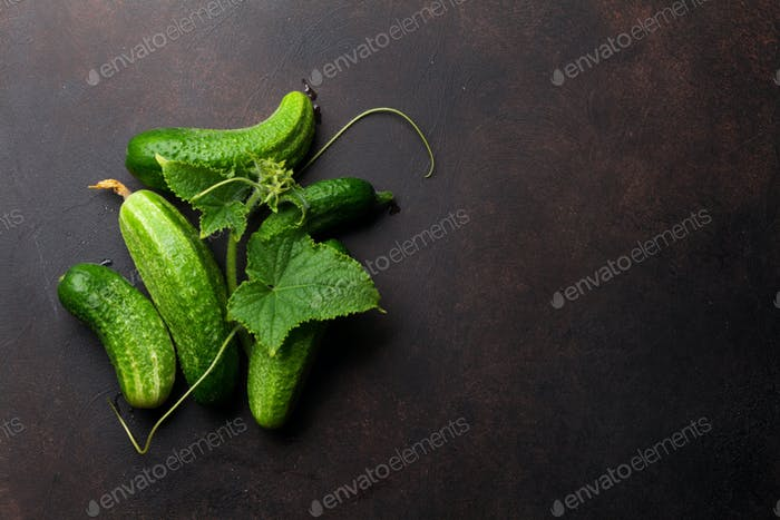 Fresh garden cucumbers