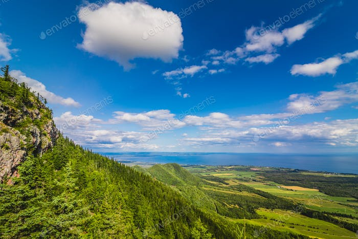 Thumbnail for Beautiful panoramic view from the top of St-Joseph mountain, Que