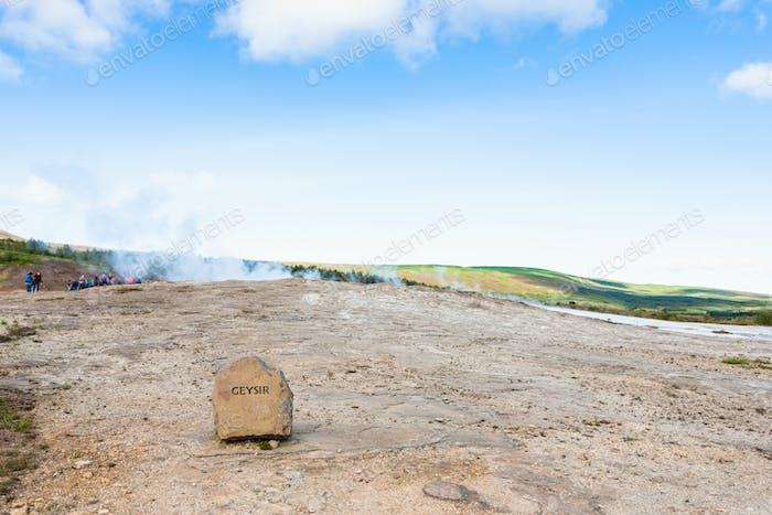 Der Geisyr (Der Große Geysir) in Haukadalur