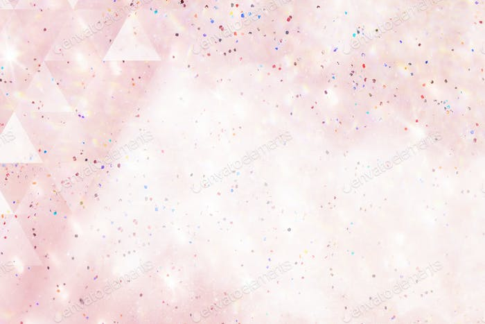 Triangle pattern on a pink holographic background illustration