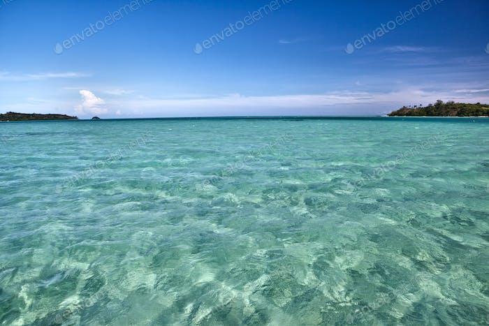 45431,White Sand Seen Under Light Green Shallow Water