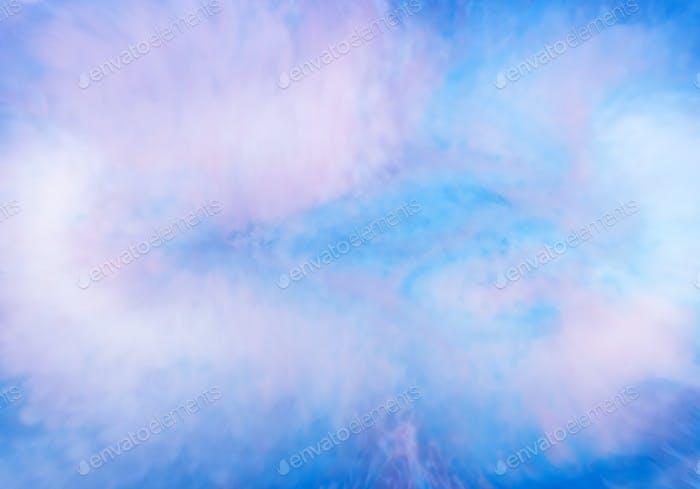 Patrón abstracto de fondo etéreo de mezcla de tinta azul en agua